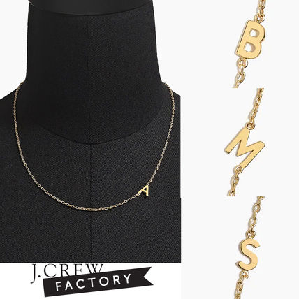 Casual Style Initial Brass Necklaces & Pendants