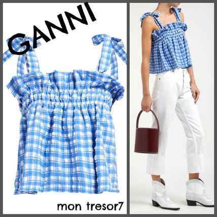 Short Gingham Casual Style Cropped