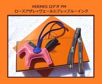 HERMES Tassel Leather Fringes Card Holders
