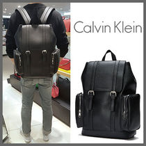 Calvin Klein Unisex Faux Fur A4 Plain Backpacks