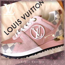 Louis Vuitton DAMIER AZUR Casual Style Leather Low-Top Sneakers