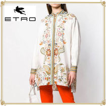 ETRO Paisley Casual Style Long Sleeves Cotton Long