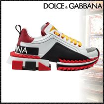 Dolce & Gabbana Rubber Sole Casual Style Blended Fabrics Leather