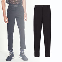 DIOR HOMME Tapered Pants Unisex Street Style Plain Cotton Tapered Pants