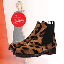 Christian Louboutin Leopard Patterns Chelsea Boots Ankle & Booties Boots