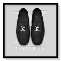 Louis Vuitton Loafers Blended Fabrics Plain Leather U Tips
