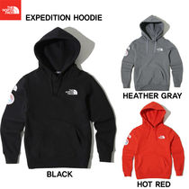 THE NORTH FACE Unisex Studded Street Style Long Sleeves Plain Hoodies