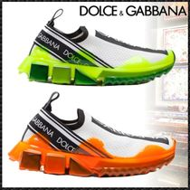Dolce & Gabbana Rubber Sole Casual Style Blended Fabrics Low-Top Sneakers