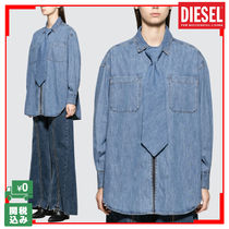 DIESEL RED TAG PROJECT Casual Style Unisex Street Style Long Sleeves Plain Cotton