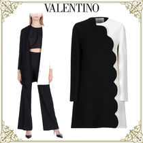 VALENTINO Casual Style Wool Bi-color Medium Home Party Ideas Coats