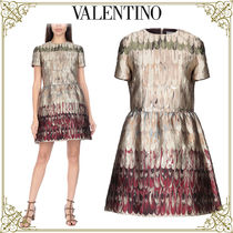 VALENTINO Short Sleeves Home Party Ideas Elegant Style Dresses