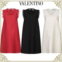 VALENTINO Wool Sleeveless Plain Home Party Ideas Elegant Style Dresses