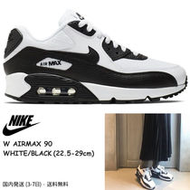 Nike AIR MAX 90 Platform Casual Style Unisex Street Style Plain Leather