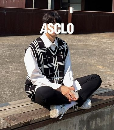 ASCLO Vests & Gillets Pullovers Other Plaid Patterns Unisex Vests & Gillets 4