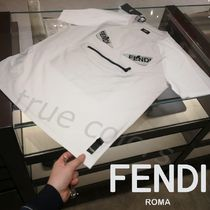 FENDI BAG BUGS Crew Neck Cotton Short Sleeves Crew Neck T-Shirts