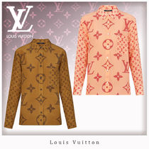 Louis Vuitton Monogram Silk Long Sleeves Shirts & Blouses