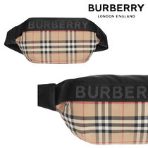 Burberry Other Check Patterns Casual Style Shoulder Bags