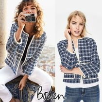 Boden Short Other Check Patterns Casual Style Jackets