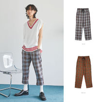 OPEN THE DOOR Glen Patterns Other Check Patterns Casual Style Unisex