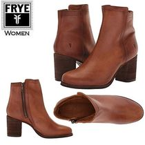 FRYE Casual Style Plain Leather Block Heels Ankle & Booties Boots