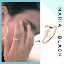 Maria Black Casual Style Unisex Silver Rings