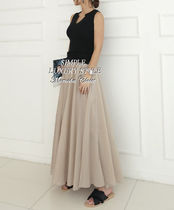Flared Skirts Maxi Long Skirts