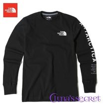 THE NORTH FACE U-Neck Long Sleeves Plain Long Sleeve T-Shirts