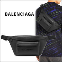 BALENCIAGA EVERYDAY TOTE Unisex Street Style Leather Messenger & Shoulder Bags
