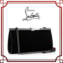 Christian Louboutin 2WAY Chain Plain Party Style Clutches