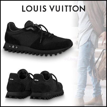 Louis Vuitton Sneakers Blended Fabrics Street Style Bi-color Plain Sneakers