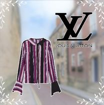 Louis Vuitton Stripes Casual Style Silk Street Style Long Sleeves