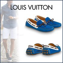 Louis Vuitton Plain Toe Moccasin Unisex Blended Fabrics Street Style