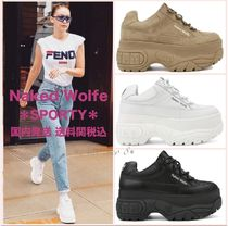 Naked Wolfe Platform Street Style Leather Platform & Wedge Sneakers