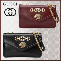 GUCCI Casual Style Plain Other Animal Patterns Shoulder Bags