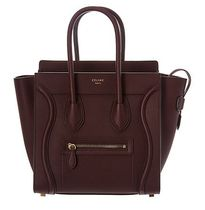 CELINE Luggage Leather Elegant Style Totes