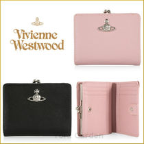 Vivienne Westwood Plain Leather Folding Wallets