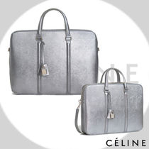 CELINE 2WAY Plain Leather Business & Briefcases