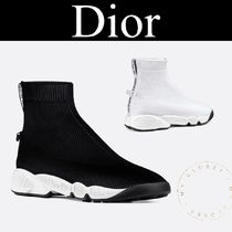 Christian Dior Casual Style Blended Fabrics Street Style Plain Sock Boots