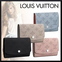 Louis Vuitton MAHINA Monogram Leather Folding Wallets