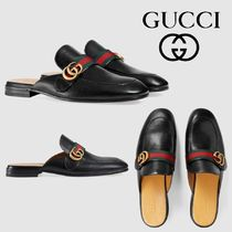 GUCCI Princetown Stripes Leather Shoes