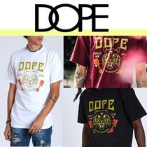 DOPE couture Street Style Short Sleeves V-Neck T-Shirts