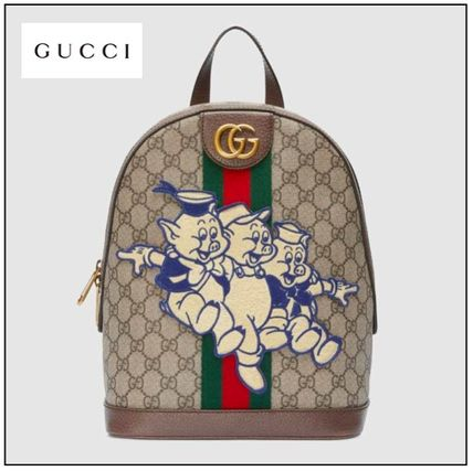 b0a8cd2c9ac ... GUCCI Backpacks Casual Style Street Style Other Animal Patterns Leather  ...