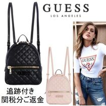 Guess Casual Style Faux Fur Blended Fabrics Street Style Plain