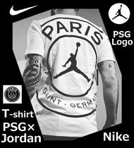 Nike AIR JORDAN Collaboration Cotton Short Sleeves Logos on the Sleeves