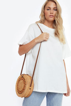 Casual Style Plain Shoulder Bags