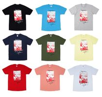 Supreme Unisex Street Style Plain Cotton Short Sleeves T-Shirts