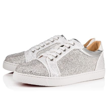 quality design b803f 735d9 Christian Louboutin 2019 SS Rubber Sole Plain Leather Low-Top Sneakers  (1190148WH01)
