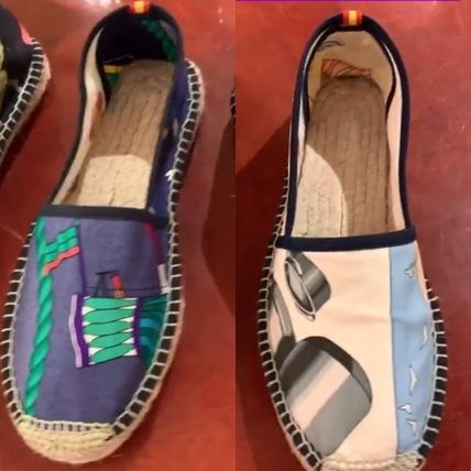 Casual Style Blended Fabrics Flats