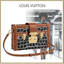 Louis Vuitton PETITE MALLE Other Check Patterns Canvas Blended Fabrics Studded 2WAY