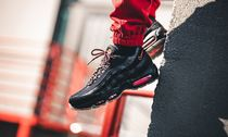 Nike AIR MAX 95 Suede Blended Fabrics Street Style Sneakers